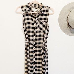G.H & Bass Co • Buffalo Plaid Check Midi Dress